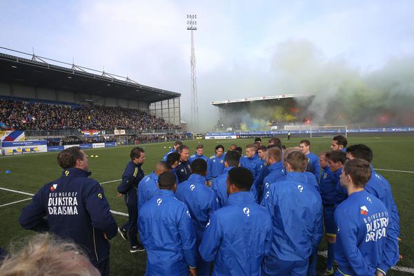 LEEUWARDEN, 31-10-2015, Cambuur Stadion, laatste training SC Cambuur voor de derby tegen SC Heerenveen , 5000 supporters aanwezig foto: Henk Jan Dijks