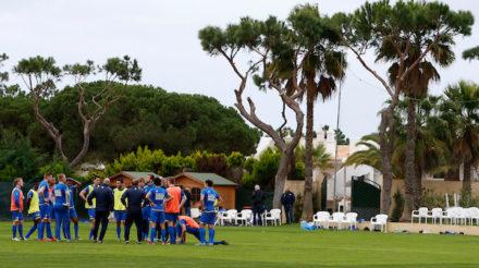 VALE DO LOBO , 04-01-2016 , seizoen 2015 - 2016 , Trainingskamp SC Cambuur in de Algarve , sfeerbeeld eerste training   foto: Henk Jan Dijks