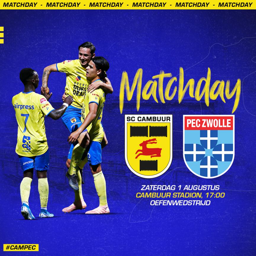 Matchday Sc Cambuur Pec Zwolle Oefenwedstrijd Sc Cambuur