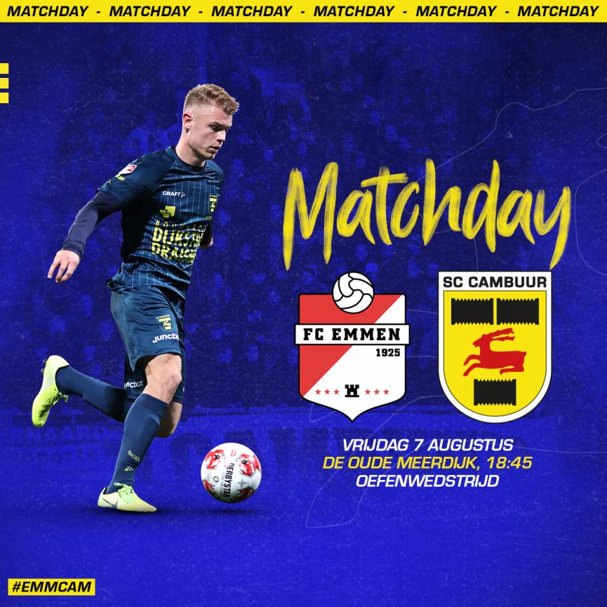 Matchday Fc Emmen Sc Cambuur Oefenwedstrijd Sc Cambuur